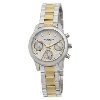 Akribos XXIV Women S Swiss Quartz Multifunction Two Tone Bracelet Watch