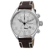 Akribos XXIV Men's Quartz Chronograph Leather Brown Strap Watch