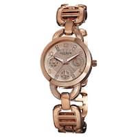 Akribos XXIV Women's Quartz Multifunction Link Rose-Tone Bracelet Watch
