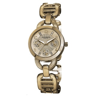Akribos XXIV Women's Quartz Multifunction Link Gold-Tone Bracelet Watch