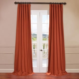 exclusive fabrics bombay rust cotton twill curtain panel free shipping today overstockcom 16117169 - Rust Color Curtains