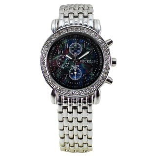 Vecceli Women's Fashion L-517-SIL-B Multifunction Silver Bracelet Watch