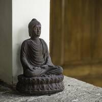 Handmade Volcanic Ash Forgiving Buddha Satue (Indonesia)