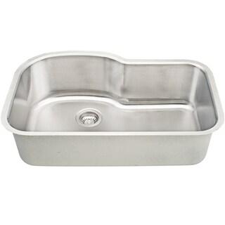 32-inch 18-gauge Stainless Steel Undermount Kitchen Sink w/ Accessories