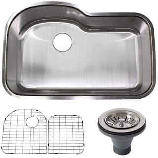 Stainless Steel Undermount Single Bowl Kitchen Sink w/ Accessories|https://ak1.ostkcdn.com/images/products/8896628/Stainless-Steel-Undermount-Single-Bowl-Kitchen-Sink-w-Accessories-P16117164.jpg?impolicy=medium