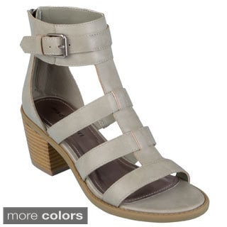 Madden Girl Women's 'Isobel' Buckle Accent Heeled Gladiator Sandals