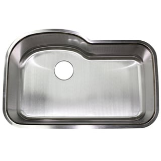 Stainless Steel 18 gauge 32-inch Undermount Single-bowl Kitchen Sink