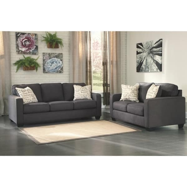 Remarkable Shop Alenya Charcoal Sofa And Accent Pillows On Sale Ncnpc Chair Design For Home Ncnpcorg