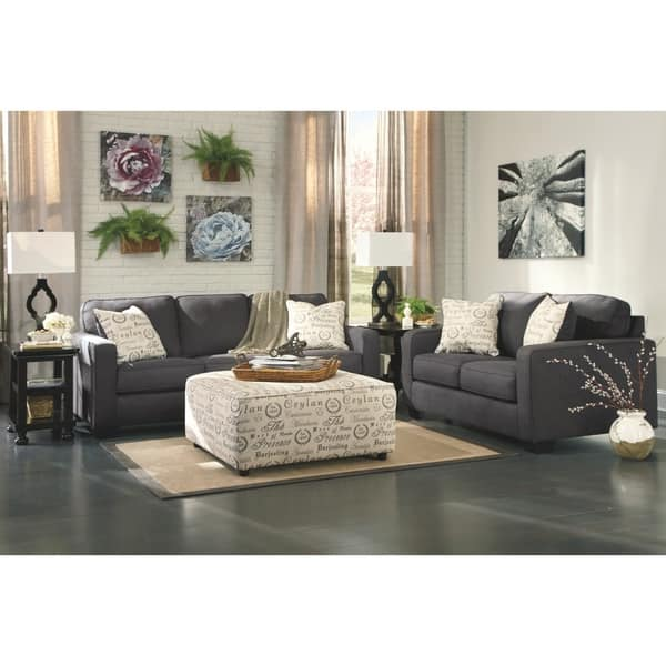 Strange Shop Alenya Charcoal Sofa And Accent Pillows On Sale Ncnpc Chair Design For Home Ncnpcorg
