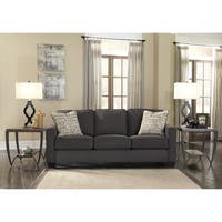 Alenya Charcoal Sofa and Accent Pillows