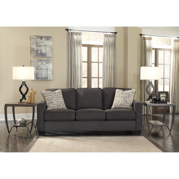 Shop Alenya Charcoal Sofa and Accent Pillows - On Sale - Free ...