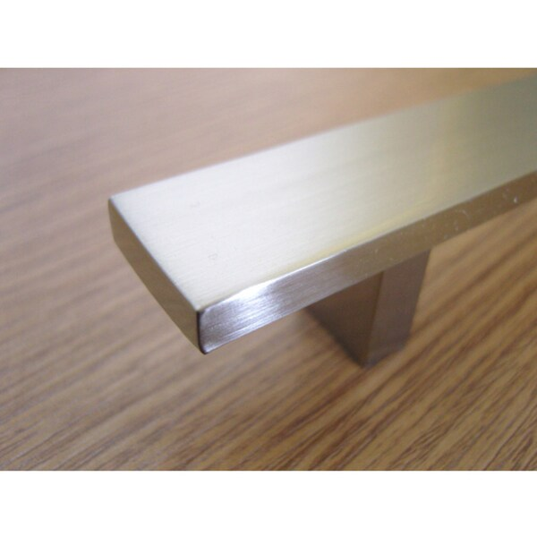 6inch rectangular design brushed nickel finish cabinet bar pulls case of 25 free shipping today
