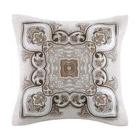 Echo Design Odyssey Square Cotton Embroidered Applique Pillow