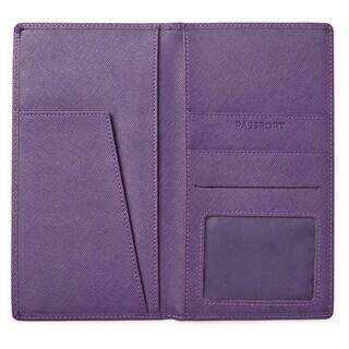 Morelle & Co Katie Saffiano Leather Passport/ Travel Wallet
