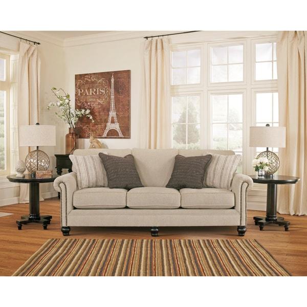 Genial Signature Design By Ashley Milari Linen Sofa