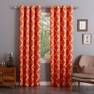 Aurora Home Moroccan Tile Room Darkening Grommet Top 84-inch Curtain Panel Pair
