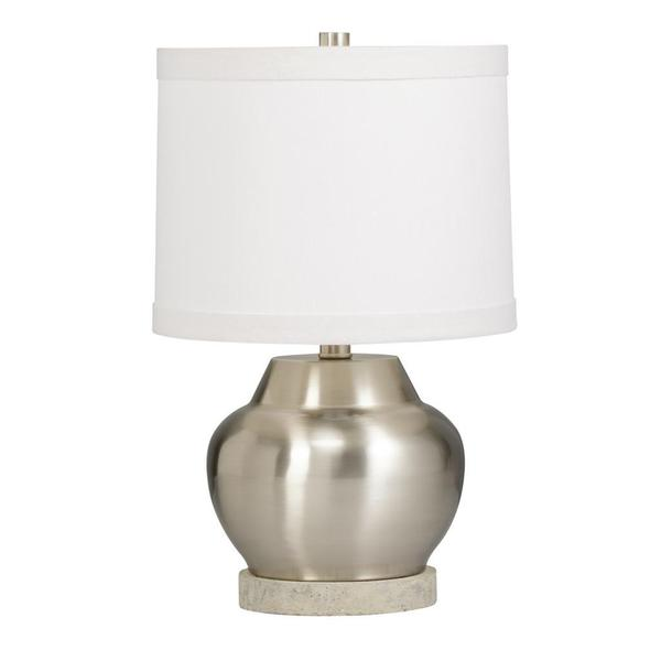 Transitional 1-light Brushed Nickel Table Lamp