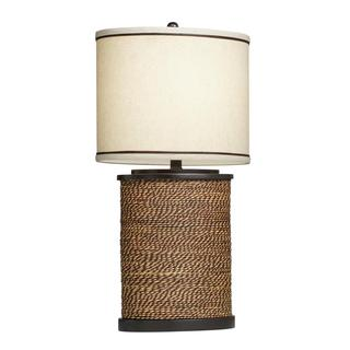 Transitional 1-light Natural Rope Table Lamp