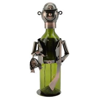 WineBodies Hunter in Bronze Metal Wine Bottle Holder