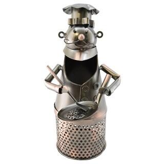 WineBodies Chef in Bronze Metal Cork Holder