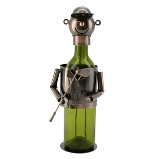 WineBodies Bronze Metal Golfer Wine Holder