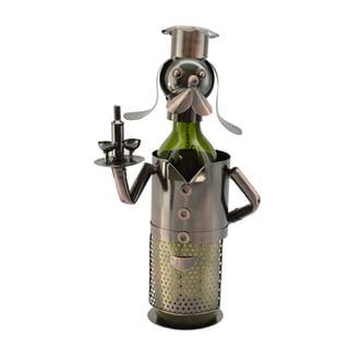 WineBodies Bronze Metal Dog Waiter Wine Holder