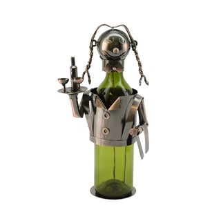 WineBodies Bronze Metal Waitress Wine Bottle Holder