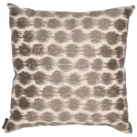 Echo Design Odyssey Square Brown/Ivory Throw Pillow