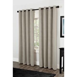 ATI Home Villamora Thermal Insulated Grommet Top Curtain Panel Pair
