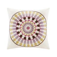 Echo Design Vineyard Paisley 16-inch Square Medallion Embroidered Pillow