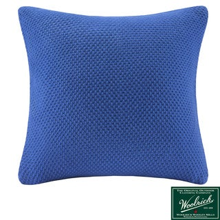 Woolrich 'Lake Side' Square Blue Knit Throw Pillow