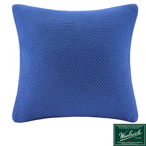 Woolrich Dog Decorative Pillow : Woolrich Lake Side Square Blue Knit Throw Pillow - Free Shipping Today - Overstock.com - 16117345