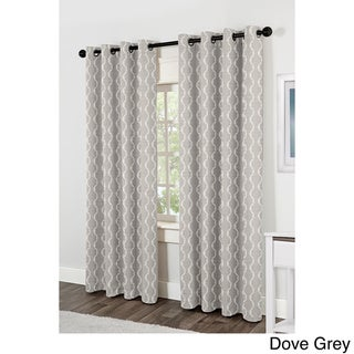 ATI Home Baroque Jacquard Grommet Top Curtain Panel Pair