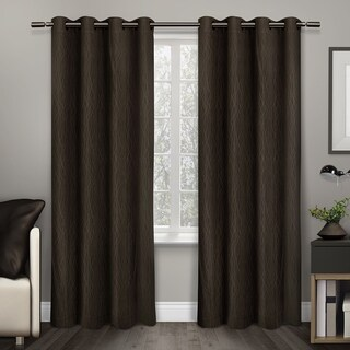 ATI Home Crete Thermal Window Curtain Panel Pair with Grommet Top