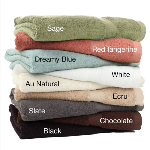 Rayon from Bamboo Rayon 3-piece Towel Set with Bonus 3-piece Towel Set