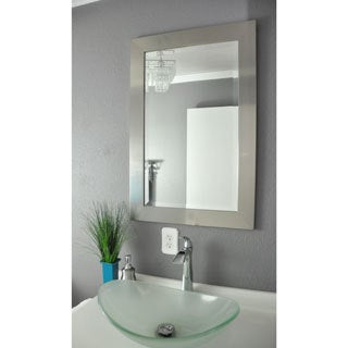 American Made Rayne Wide Silver Wall Mirror