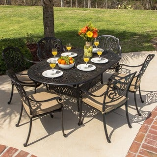 Rosedown Bronze Cast Aluminum 7-piece Patio Dining Set