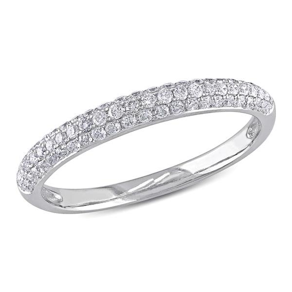 Miadora 14k White Gold 1/3ct TDW Diamond Ring