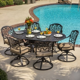 Rosedown Bronze Cast Aluminum 7-piece Outdoor Dining Set