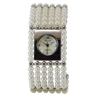 Vecceli Women's Fashion Wide Pearl Bracelet Watch|https://ak1.ostkcdn.com/images/products/8896995/Vecceli-Womens-Fashion-Wide-Pearl-Bracelet-Watch-P16117468.jpg?impolicy=medium