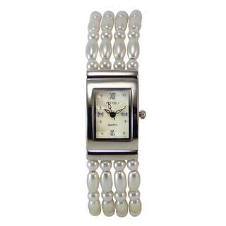 Vecceli Women's Fashion Thin Pearl Bracelet Watch|https://ak1.ostkcdn.com/images/products/8897005/Vecceli-Womens-Fashion-Thin-Pearl-Bracelet-Watch-P16117472.jpg?impolicy=medium