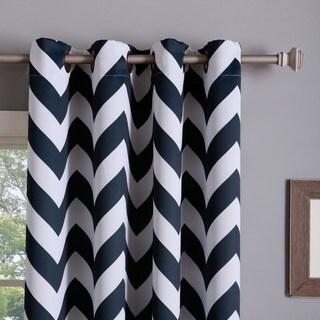 Blue, Chevron, Grommet Curtains & Drapes - Shop The Best Deals For ...