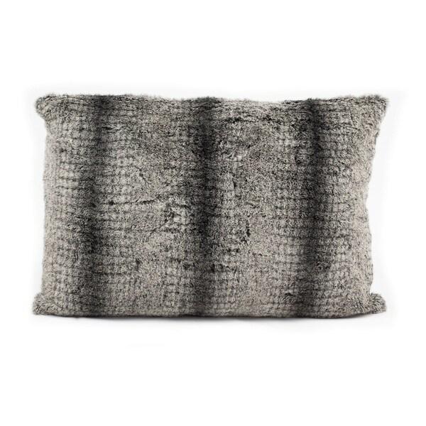 Nourison Mina Victory 12 x 18-inch Striped Faux Fur Throw Pillow