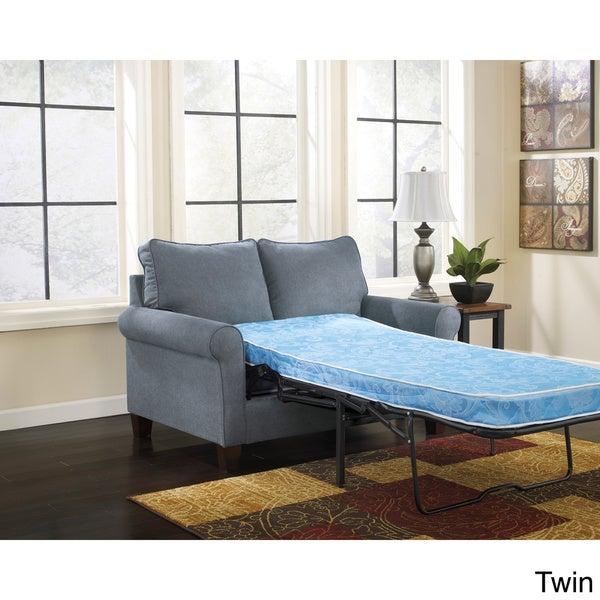 Signature Design by Ashley Zeth Denim Sleeper Sofa Free Shipping