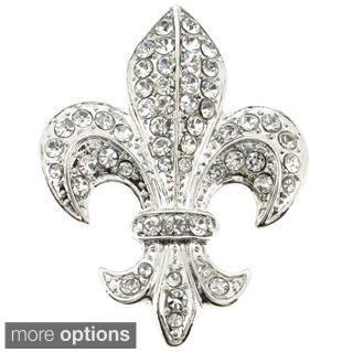 Silver Chrome Fleur-De-Lis Brooch/ Pendant|https://ak1.ostkcdn.com/images/products/8897242/Silver-Chrome-Fleur-De-Lis-Brooch-Pendant-P16117621.jpg?impolicy=medium