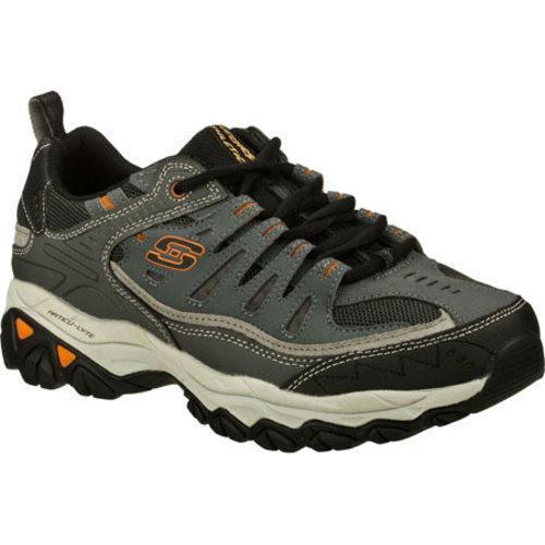 Skechers Men's After Burn Memory Fit Charcoal/Grey Sneakers