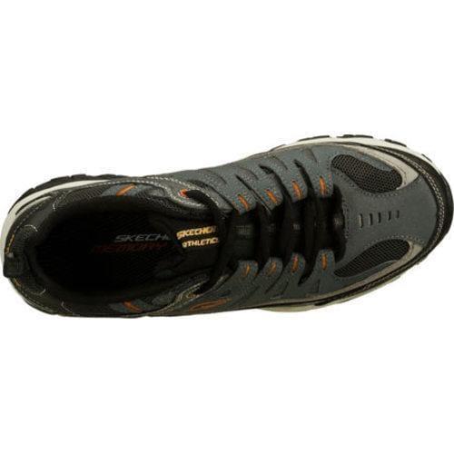 Men's Skechers After Burn Memory Fit Charcoal/Gray - Thumbnail 2