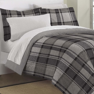 Ultimate Plaid 7-piece Bed in a Bag with Sheet Set