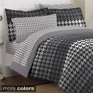 Houndstooth 7-piece Bed in a Bag with Sheet Set