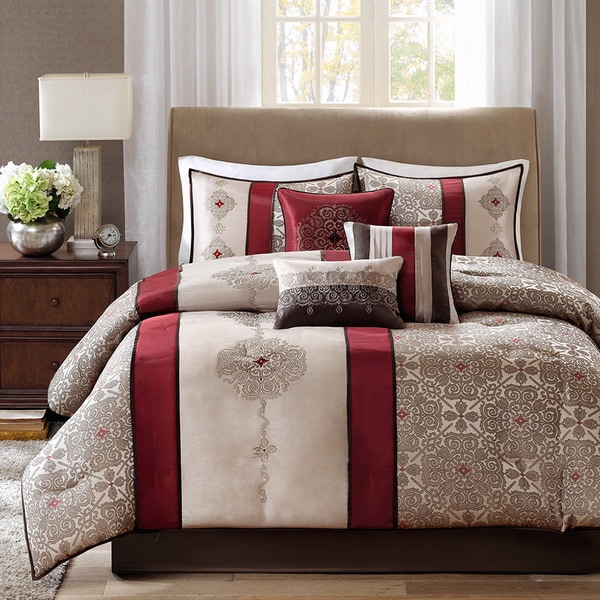 Madison Park Blaine 7 Piece Jacquard Comforter Set